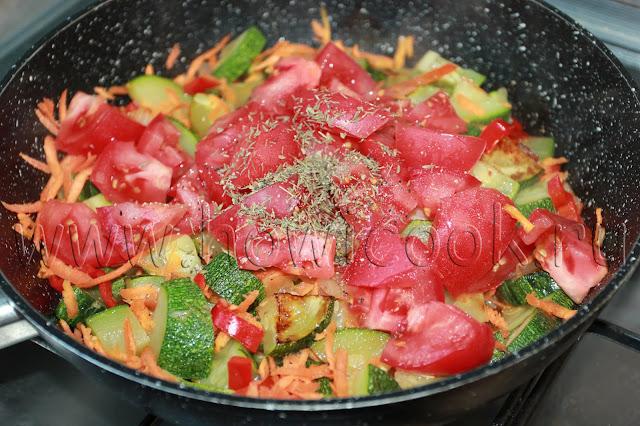 рецепт овощного рагу с кабачками и болгарским перцем с пошаговыми фото