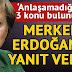 Merkel'den Cumhurbaşkanı Erdoğan'a yanıt