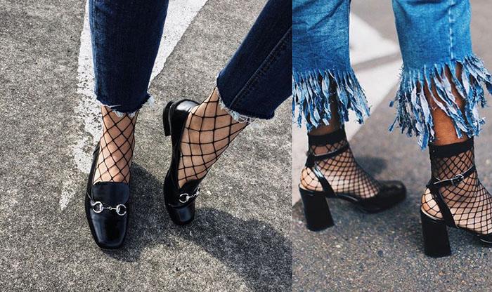 calzini a rete