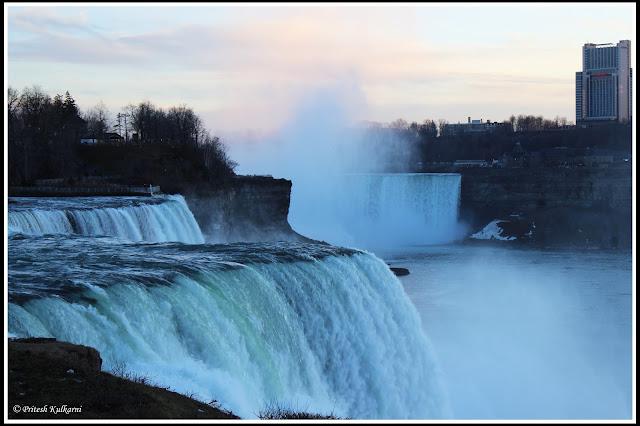 Evening at Niagara Fall, New York