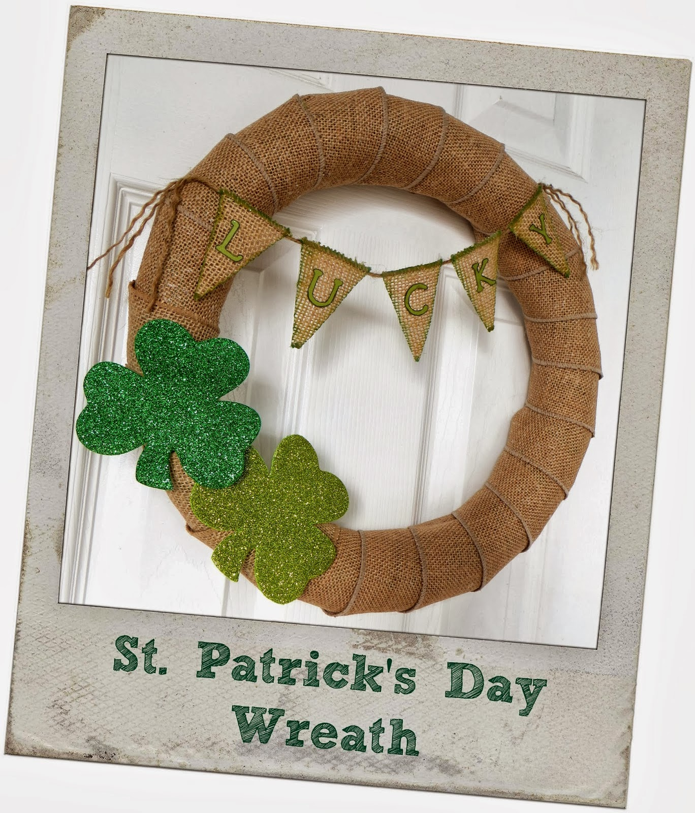 st patricks day lucky wreath