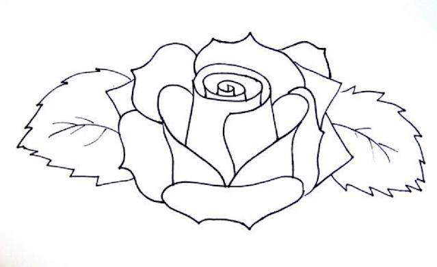 mewarnai gambar bunga mawar