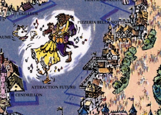 Beauty and the Beast Attraction Disneyland Paris Map