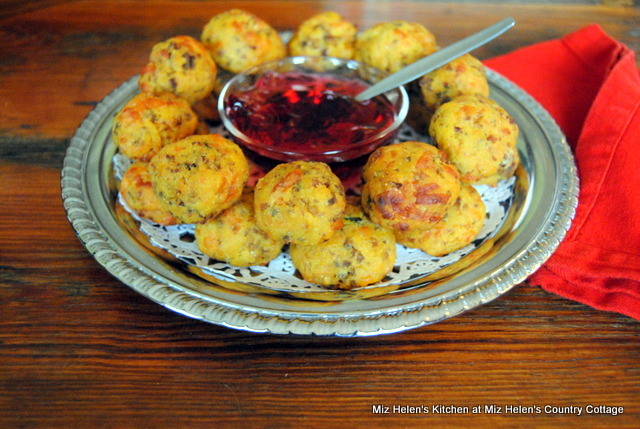 Sweet Potato Sausage Balls at Miz Helen's Country Cottage