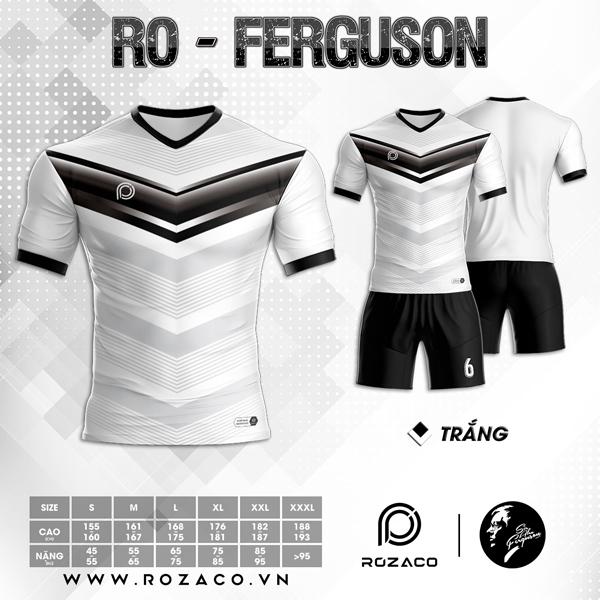 Áo Không Logo Rozaco RO-FERGUSON Màu Trắng