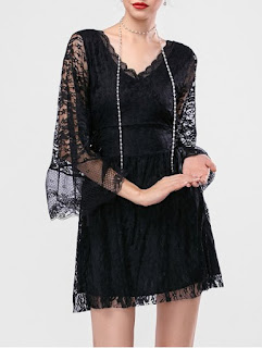 The recommendation for lace dresses with sleeves