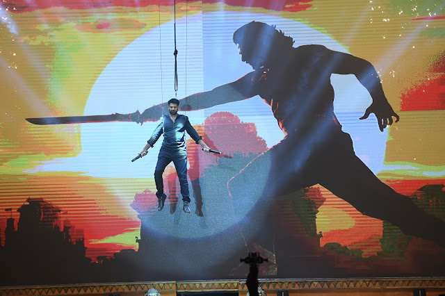 Prabhas Entry at Baahubali 2 Pre Release Event Photos