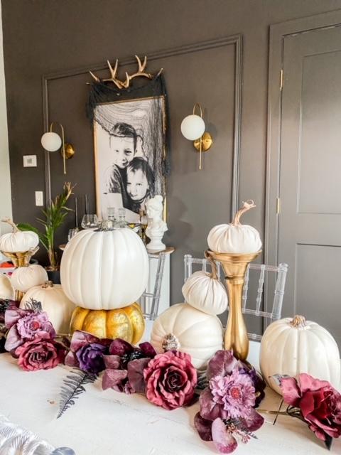 Halloween and fall table