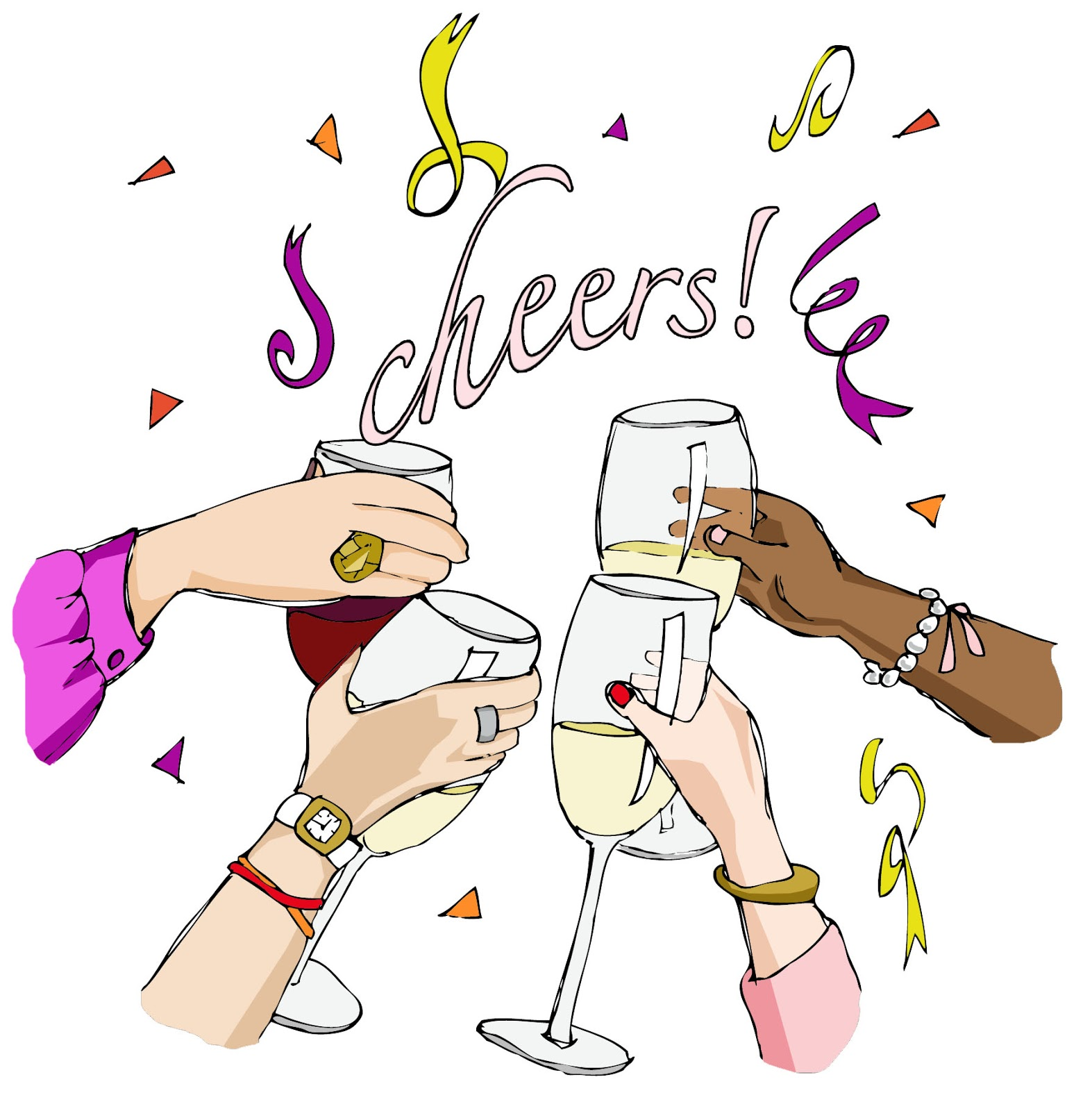 The gallery for --> Cheers Wine Glasses Clip Art