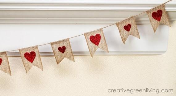 Easy to make Heart Banner