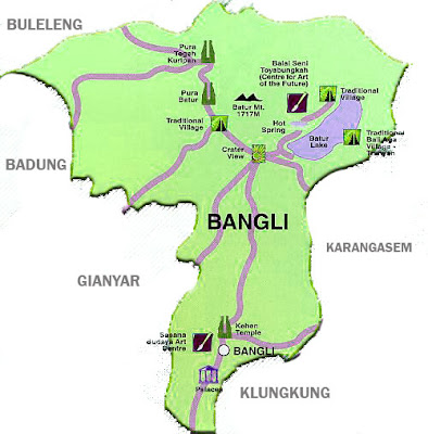 Gambar Peta Kabupaten Bangli Sekilas