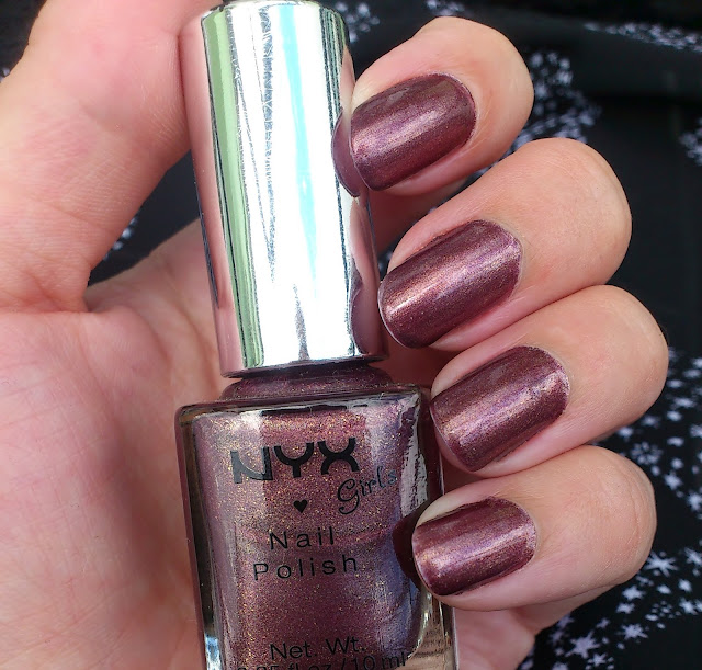 NYX Girls Red Bean Slush Nailpolish Review