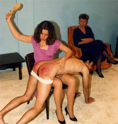 female spanking male domestic discipline