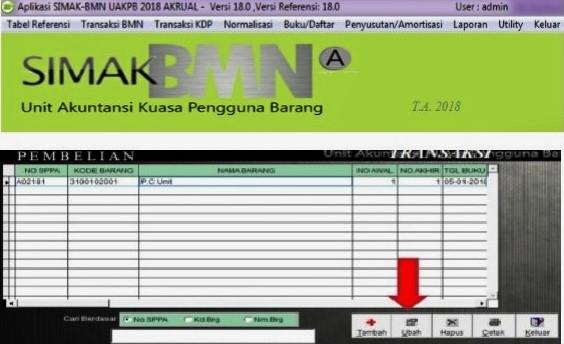 Cara Update SIMAK BMN 18.0