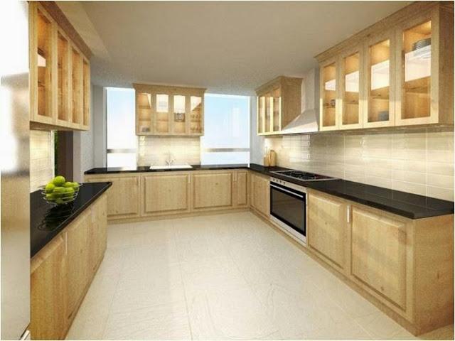 Thiết kế phòng bếp mang phong cách cổ điển.