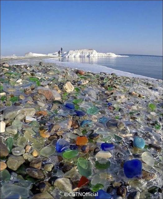 "Russia's ""Glass Beach"""