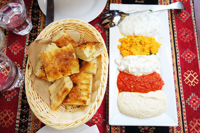 Matee Turkish Restaurant Newtown Mixed Dips Platter
