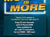 Enjoy 10 new channels including FOX Movies, National Geographic and Sky News
