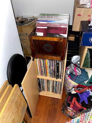 Crosley Vinyl Crate and free record cabinet from Dad