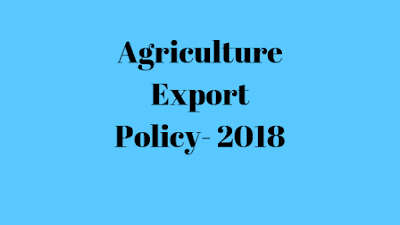 Agriculture Export Policy-2018