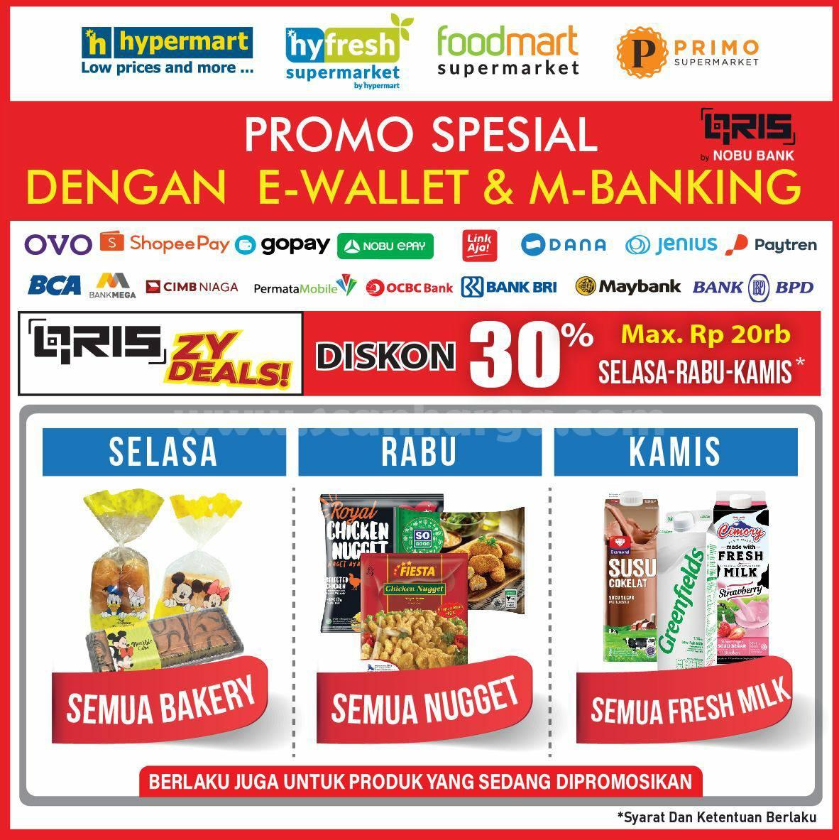 Promo HYPERMART Diskon SPESIAL bayar pakai Semua E-Wallet & Mobile Banking