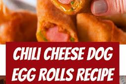 Easy Chili Cheese Dog Egg Rolls Recipe #easymeals #eggrolls #easyrecipes #cheese