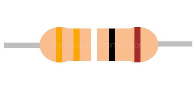 Resistor 5 gelang warna