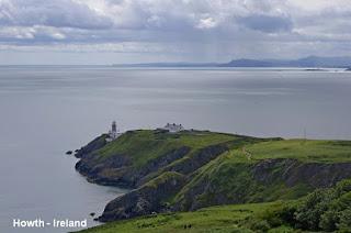 Cliffs walk in Howth, County Dublin
