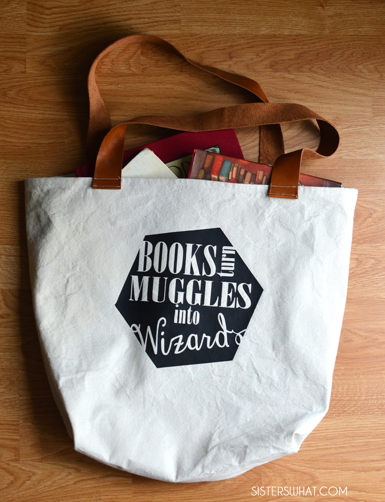 books turn muggles into wizards library bag
