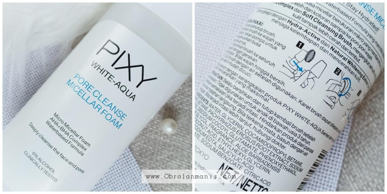 Kemasan PIXY White-Aqua Pore Cleanse Micellar Foam