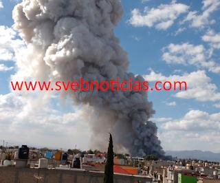 Explosion en mercado de cohetes de San Pablito de Tultepec Estado de México