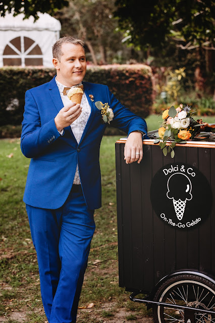 chalk photography gold coast country venue gelato electric blue gold styling