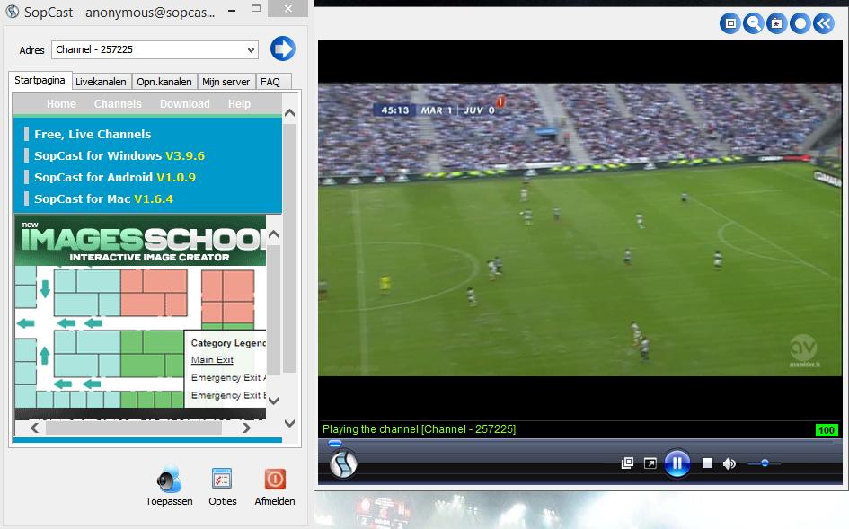 Download Sopcast 4.2.0 – Phần mềm xem stream bóng đá trực tiếp miễn phí