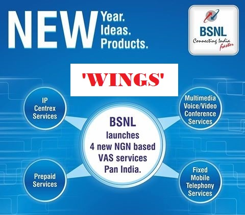 BSNL launched NGN Services - 'WINGS', Now Make or receive landline calls on your mobile or laptop from any where in the world