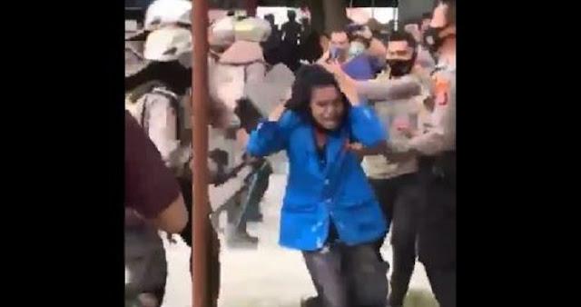 Polisi Keroyok Mahasiswa hingga Videonya Viral, Warganet Murka