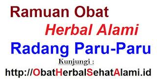 Ramuan Obat herbal alami radang paru-paru tradisional