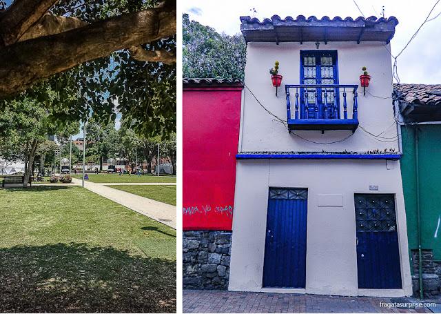 Bogotá: Parque de La 93, em Chapinero, e sobrado histórico em La Candelaria
