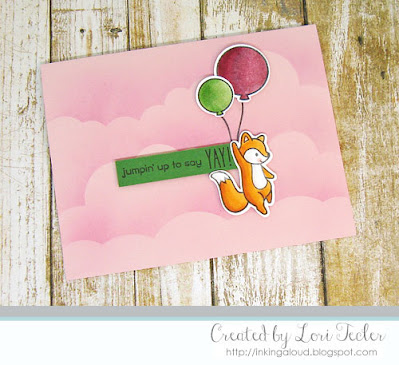 Jumpin' Up to Say Yay card-designed by Lori Tecler/Inking Aloud-stamps from Lawn Fawn