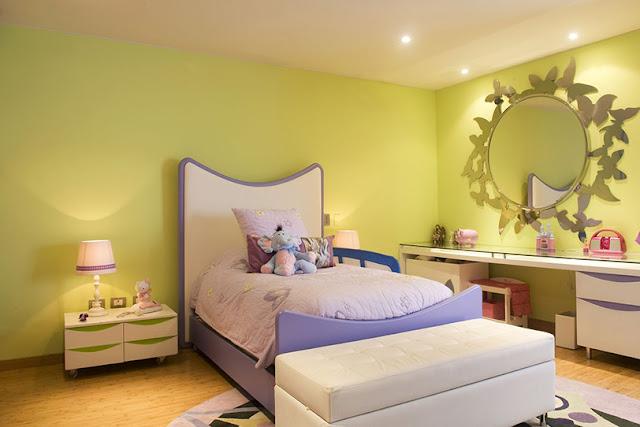 Dormitorio de ni a en verde y lila de karim chaman - Dormitorio de nina ...