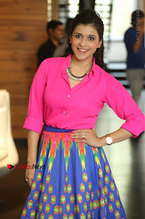 Actress Mannar Chopra in Pink Top and Blue Skirt at Rogue movie Interview  0113.JPG