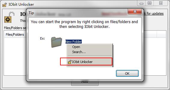 IObit Unlocker - Η λύση στο πρόβλημα αδύνατης διαγραφής αρχείων