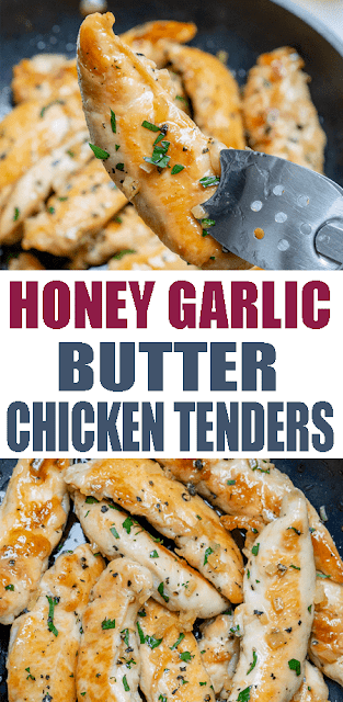 Honey Garlic Butter #ChickenTenders for #CleanEating Meal Prep!