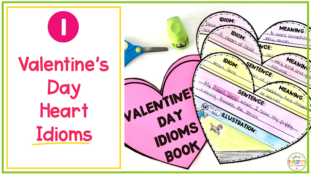 In search of ELA Valentine's Day Activities for Upper Elementary students? Try this Valentine's Day Heart Idiom Activity.