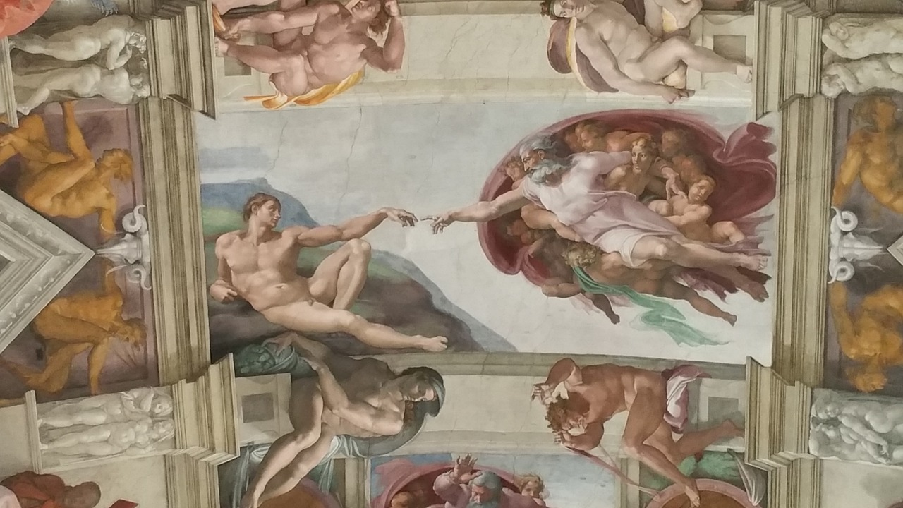 pintura da capela sistina em roma na italia