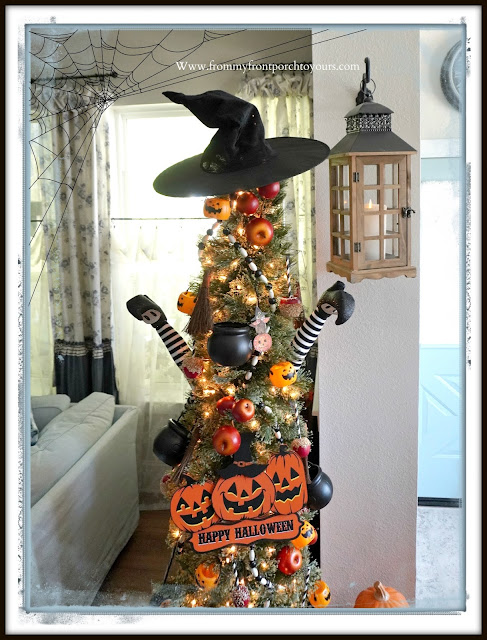 Fun Vintage Halloween Festive Christmas Tree-From My Front Porch To Yours