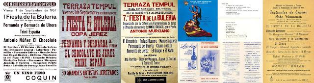 Tío Borrico participa en la Fiesta de la Bulería de Jerez en los años 1967, 1968, 1969, 1974