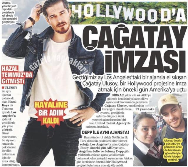 النجم التركي شاتاي أولوسوي يبدأ أولى خطوات العالمية من هوليوود