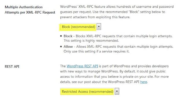 ajustes importantes itheme security plugin