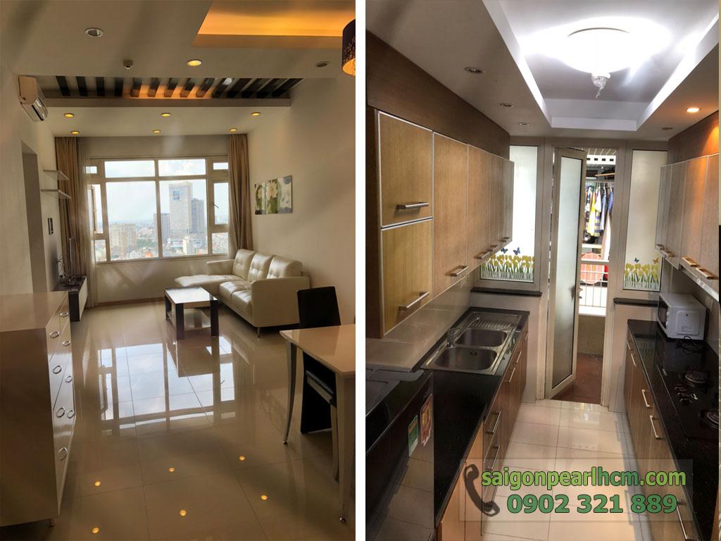Saigon Pearl Sapphire 2 cho thuê căn hộ tầng 21 dt 92m2 giá thuê $800 - hình 6