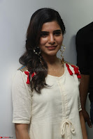 Samantha Ruth Prabhu Smiling Beauty in White Dress Launches VCare Clinic 15 June 2017 009.JPG